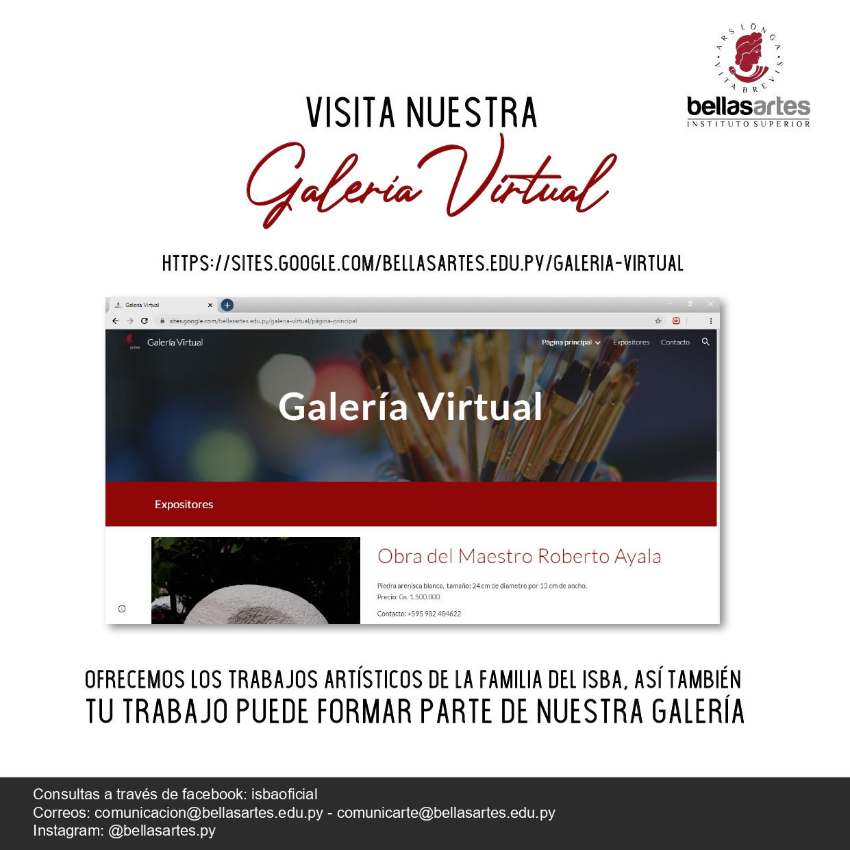 flyer galeria virtual